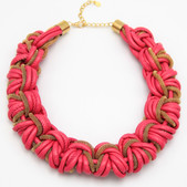 Pink Leather Braid $15