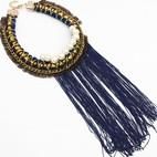 Blue Fringe Pearl Long $15