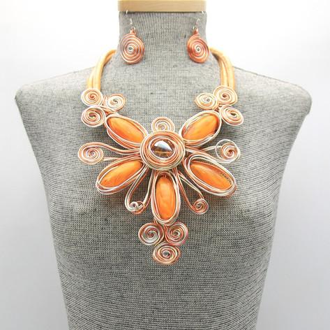 SOLD OUT Resin Orange Flower $20