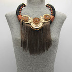 Brown Statement Fringe $15