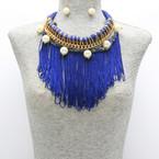 Blue Rope Fringe Pearl $15