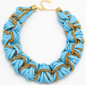 Blue Leather Braid $15