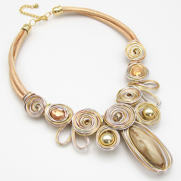 SOLD OUT Gold Resin Wire Collar $20