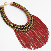 RED Fringe Collar $15 SOLD OUT