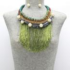 Green Rope Fringe Pearl $15
