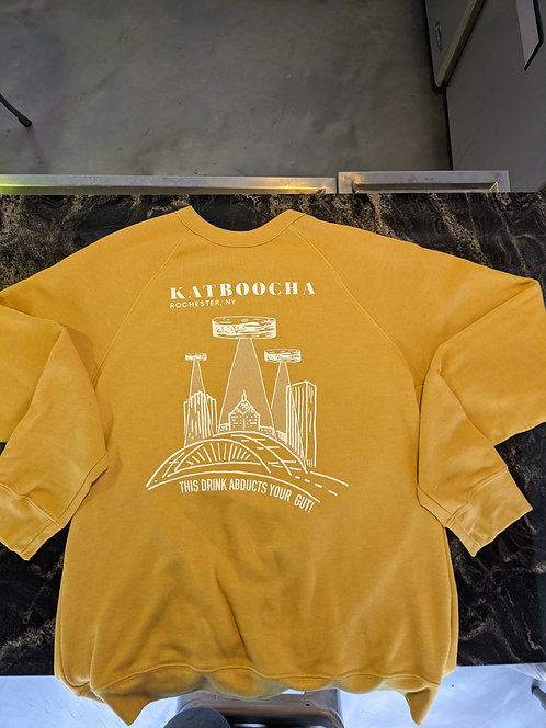 Mustard UFO Crewneck Sweatshirt