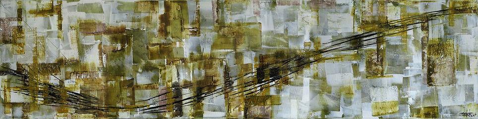 """Texture 05- Mixed Media on canvas, 72"""" x 18"""", 2017"""