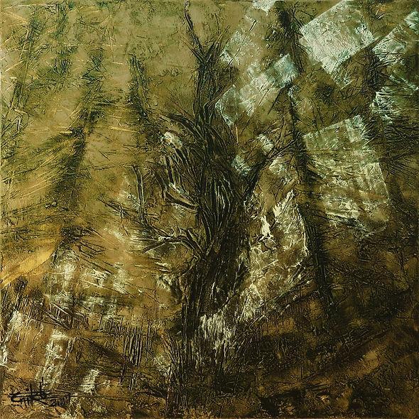 "Woods #2 - Mixed mediaon canvas, 24"" x 24"", 2017"