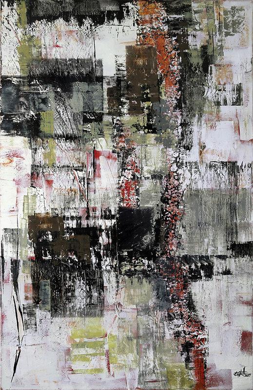 """Texture 02 - Mixed mediaon canvas, 52"""" x 31"""", 2017"""