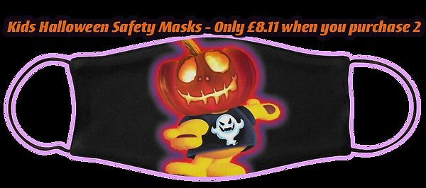 Kids Halloween Cotton Safety Mask by OrganicBeej