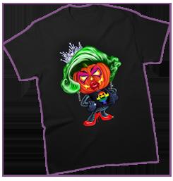Halloween Queen LGBT T-Shirt Art by OrganicBeej