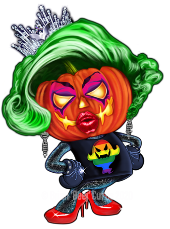 Halloween Queen Drag Queen T-Shirt Art by OrganicBeej