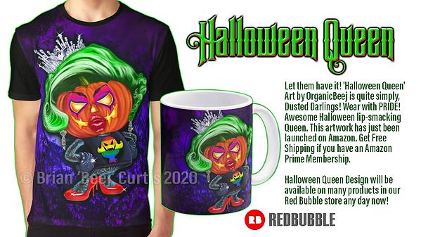 Halloween Queen LGBT T-Shirt design
