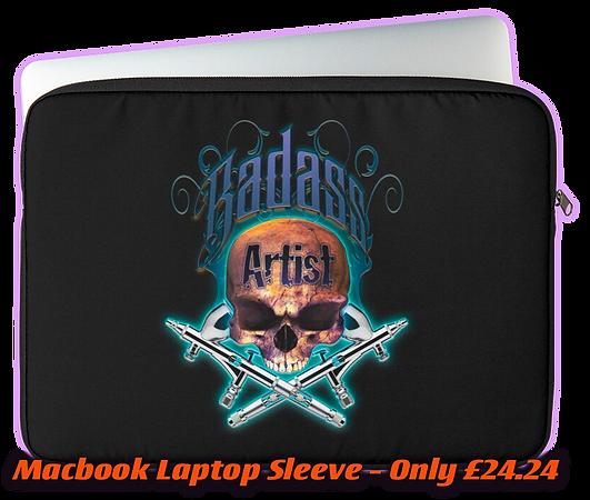 Macbook Laptop Sleeve Badass Artist