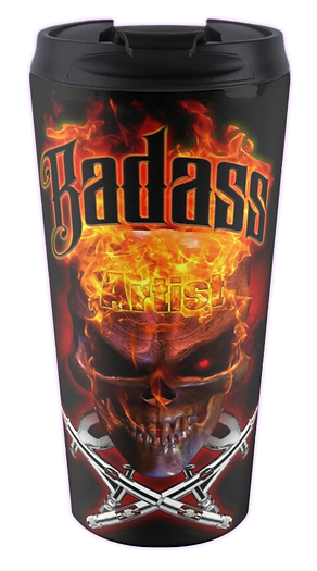 Badass Falmes Airbrush Art Travel Mug