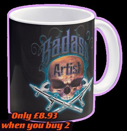 Badass Flames Blue Mug by OrganicBeej