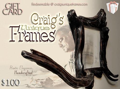 Picture Frames Gift Cards Craig's Unique Frames