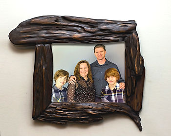 Handmade Wooden wall decor, unique wood picture frame, dark brown wooden picture frame, beautiful handcrafted wood frames, unique family portrait frame, unique handmade wood frames, unique live edge frames, unusual handcrafted frames