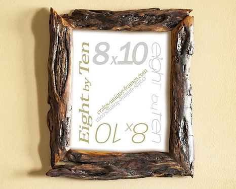 Unique Handcrafted 8x10 Frame - Willow Wood Picture Frame