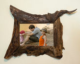 unique wood picture frame brown 5x7