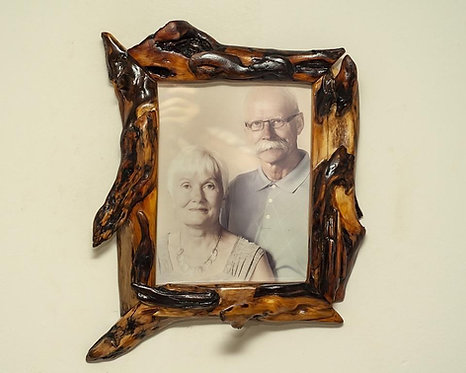 Willow Wood Picture Frame Handmade Live Edge Photo Frame 7x9