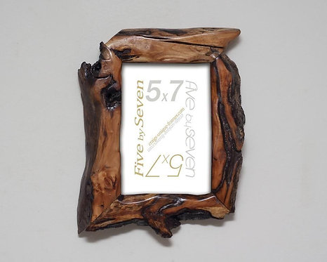 Willow Wood Picture Frame, 5x7 Photo Frame Unique Diamond Willow Handcrafted