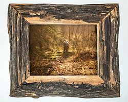 farm wood picture frame grey rustic