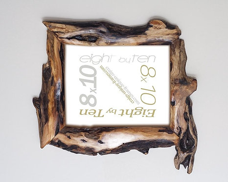Unique Wooden Picture Frame 8x10 Willow Wood Anniversary Gift