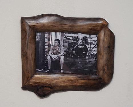 Recycled Wood Photo Frame 5x7 Natural Edge Photo Frame