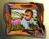 wood handmade picture frame rustic 5x7, unusual wood picture frame, unique handcrafted frames