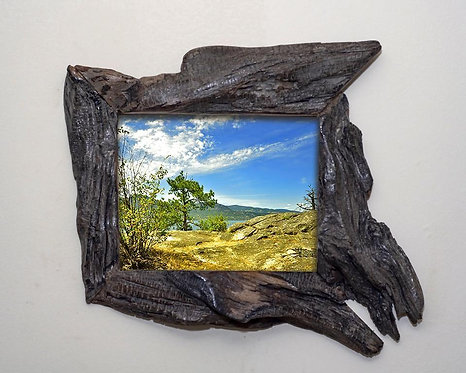 Live Edge Wooden Frame 6x8, Unusual Wood Picture Frame