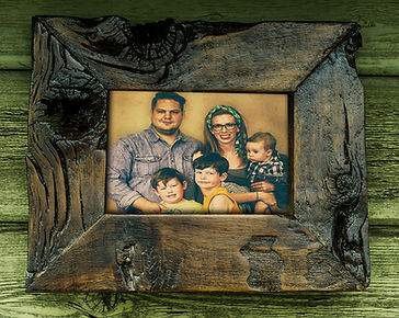 Custom WoodPictue Frames, Custom Frames Online, Rutic Wood Frames