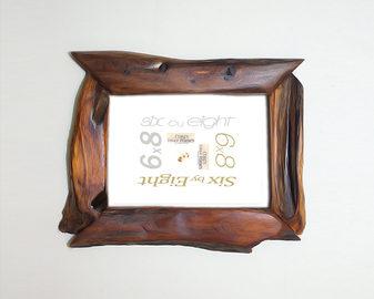 unique wood picture frames 6x8 wood