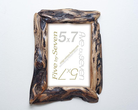 Diamond Willow Wood Frame 5x7 - Unique Wooden Picture Frame