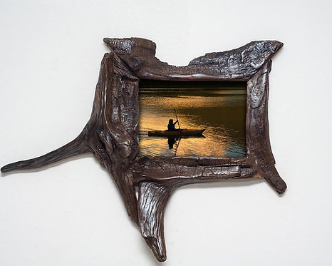 Unique 5x7 Wooden Picture Frame - Unique Photo Frame, Upcycled Wood Gift