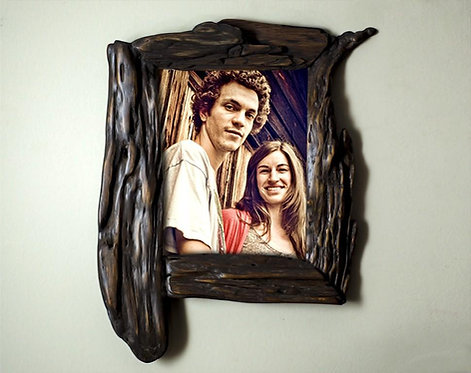 Unique Wooden Photo Frame 7x9 Handcrafted Wood Photo Frame 9x7