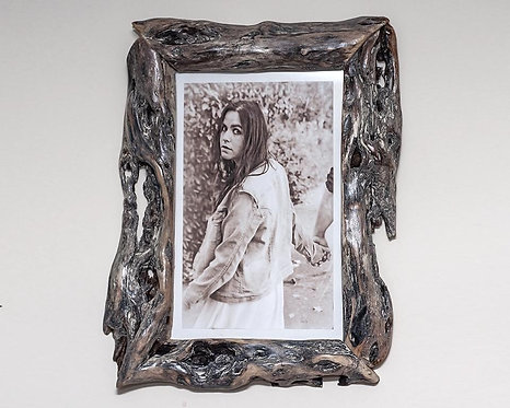Unique Picture Frame 8x12 Handcrafted Wood Frame   Diamond Willow