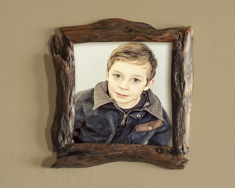 8x8 Wooden Picture Frame  -  Willow Wood Photo Frame