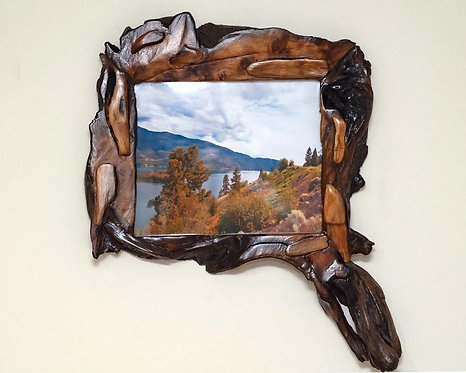 Photo Frame 8x10 Handmade Willow Unique Wooden Picture Frame