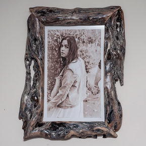 wood picture frame grey diamond willow