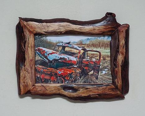 Unique Picture Frame 6x9 | Rustic Unique Wood Picture Frame
