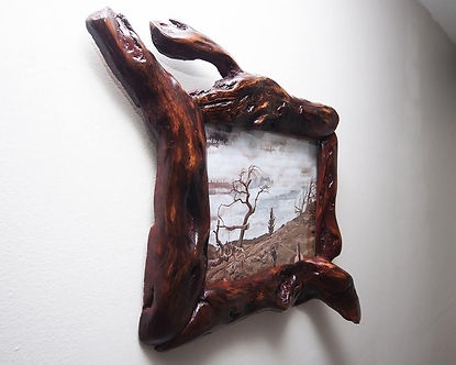 Unusual Handcrafted Wood Picture Frame 8x10.jpg