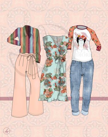 """Fridam Fighters"" Digital Garment Floats"