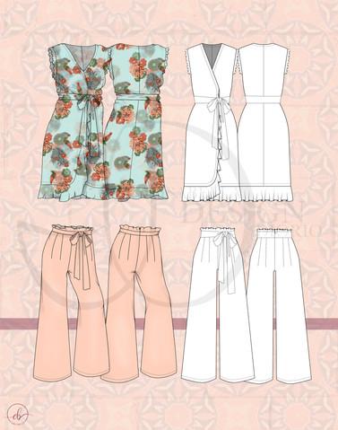 """Fridam Fighters"" Digital Garment Floats and Flats"