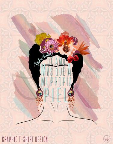 """Fridam Fighters"" Frida Kahlo Inspired T-shirt Design"