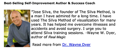 Testimonial Silva Method by Dr Wayne Dyer