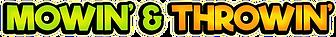Mowin' & Throwin' Logo