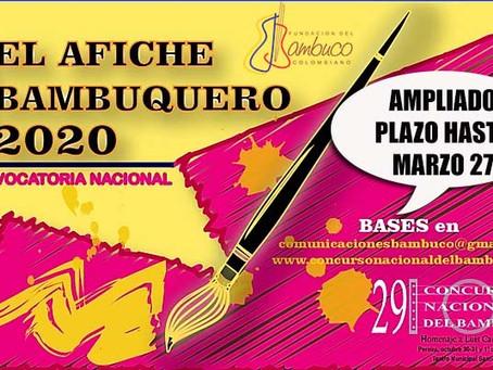 AMPLIADO PLAZO DE CONVOCATORIA PARA DISEÑO DE AFICHE BAMBUQUERO 2020