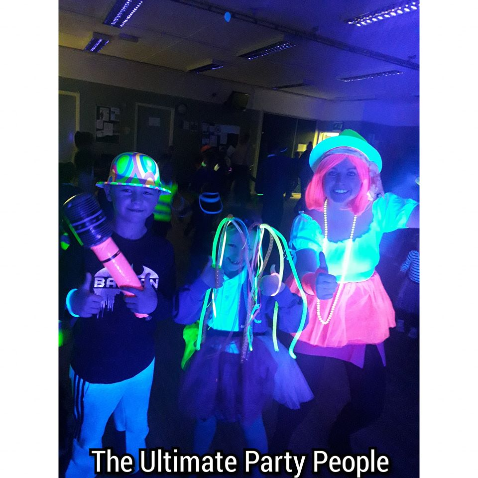Glow in the dark parties Aughton