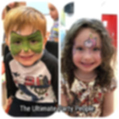 Childen's facepainters, children's birthday entertainers, the best birthday parties, Facepainting parties Newton Le Willows. Birthday parties Widnes, Facepainters Widnes